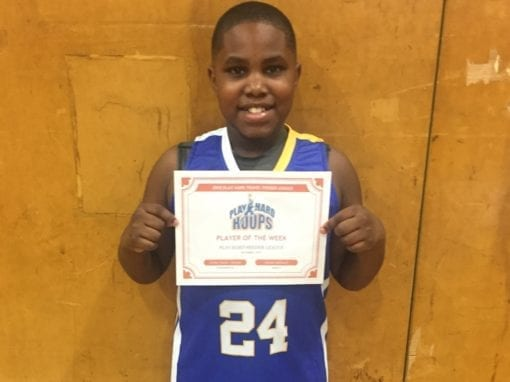 Carter Davis – 4th Grade – PHH Feeder League Player Of The Week Saturday, December 14th