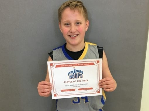 Drake Tiglas – 5th Grade – PHH Feeder League Player Of The Week Saturday, February 8th