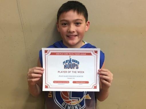 Peyton Balanag – 6th Grade Blue – PHH Feeder League Player Of The Week Sunday, February 9th